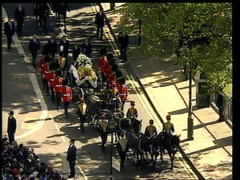 judge's report lib england london westminster princess diana's funeral procession along to westminster abbey - funeral procession stock videos & royalty-free footage