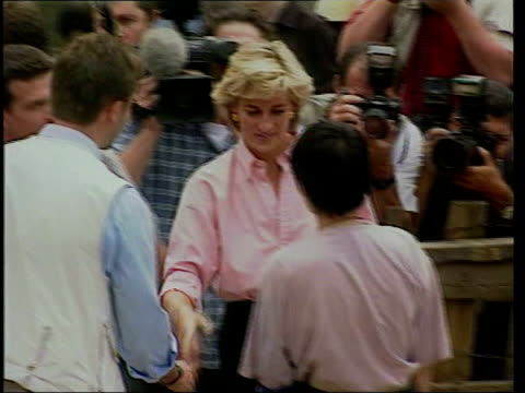 princess diana death photographers face new investigation unknown location diana princess of wales along greeting people later holding her hand over... - lens pas de calais stock videos & royalty-free footage