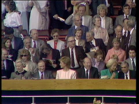 Princess Diana Duchess of Kent and Wimbledon owner Sam Hammam Liverpool vs Wimbledon 1988 FA Cup Final Wembley London