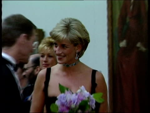 Princess Diana feared plot to kill her LIB London Princess Diana talking to partygoer ZOOM IN