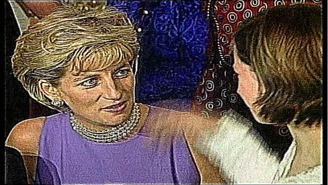female judge to preside over death inquest ** beware lib australia sydney int diana princess of wales in sleeveless purple dress hugging girl ends - sleeveless dress stock videos and b-roll footage