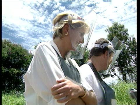 Princess Diana French newspaper interview C4N LIB Princess Diana walking thru minefield with others