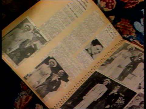 stockvideo's en b-roll-footage met princess diana holiday lib former house of duke and duchess of windsor and interior house is now owned by al fayed scrapbook of stories about duke... - former