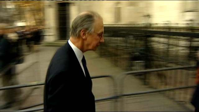 Lord Fellowes gives evidence ENGLAND London Royal Courts of Justice EXT Lord Fellowes along to court with Lady Jane Fellowes and followed by Nicholas...