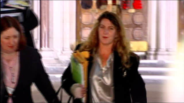 princess diana inquest: witness gives account of driver henri paul; england: london: ext / night myriah daniels leaving high court as surrounded by... - paul daniels stock videos & royalty-free footage