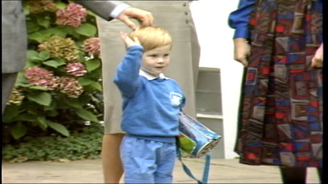 vídeos de stock e filmes b-roll de princess diana memorial concert: preview; music overlay: elton john - 'song for guy' 1980's princess diana, princess of wales, with prince william... - país de gales
