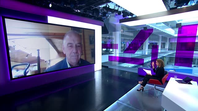 princess diana panorama interview scandal: lord hall resigns from national gallery; england: int mark killick interview via internet sot. cutaways... - channel 4 news stock-videos und b-roll-filmmaterial