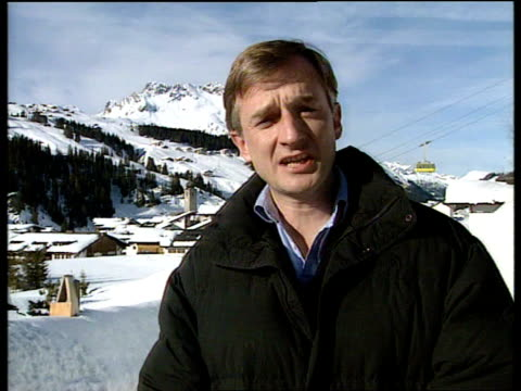 princess diana skiing privacy; cms white i/c sot + sign off tx 24.3.95/naf - austria stock videos & royalty-free footage