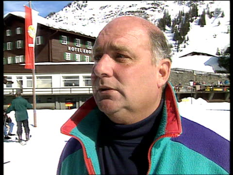 princess diana skiing privacy itn cms mike lloyd intvw sot diana declined request of photocall - skiing stock videos & royalty-free footage