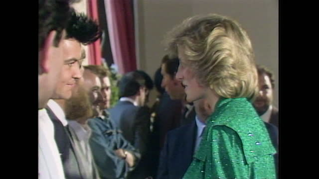 princess diana talks to paul young while attended a pop concert at the royal albert hall. - royal albert hall stock videos & royalty-free footage