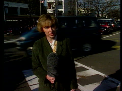 princess diana visit reporter to camera - raw stock videos and b-roll footage