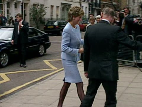 princess diana visits great ormond street hospital for sick children in london - 1995 stock videos & royalty-free footage