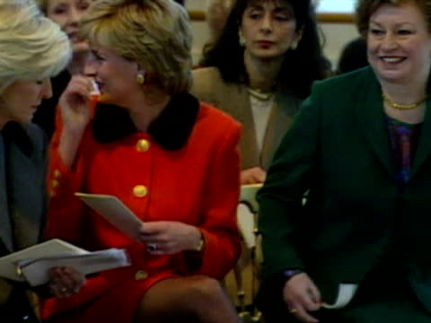princess diana visits the english national ballet school - 1995 stock videos & royalty-free footage