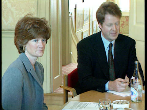 Princess Diana's former butler Paul Burrel leaves charity LIB London Downing Street Lady Sarah McCorquodale sitting with others at meeting