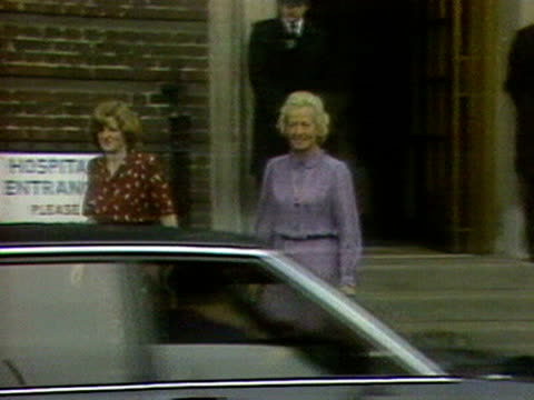princess diana's mother and sister leave st mary's hospital after visiting the newly born prince william - frances shand kydd stock videos & royalty-free footage