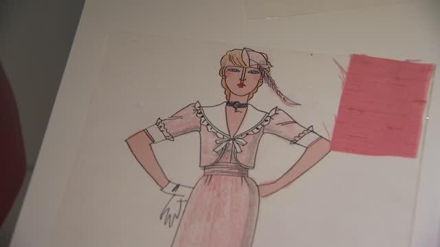 princess diana's wedding dress on display at kensington palace; england: london: kensington palace: int pink dress designed by bellville sassoon and... - pink colour stock videos & royalty-free footage
