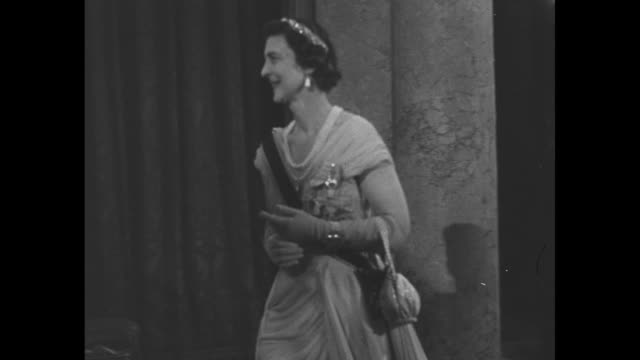 princess elizabeth and philip duke of edinburgh arrive at lancaster house reception for king frederick and queen ingrid of denmark princess marina... - state visit stock videos & royalty-free footage
