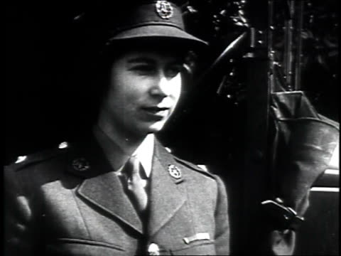 princess elizabeth driving an ambulance during her wartime service in the a.t.s. princess elizabeth helps out with war effort on april 10, 1945 in... - 1945 stock-videos und b-roll-filmmaterial