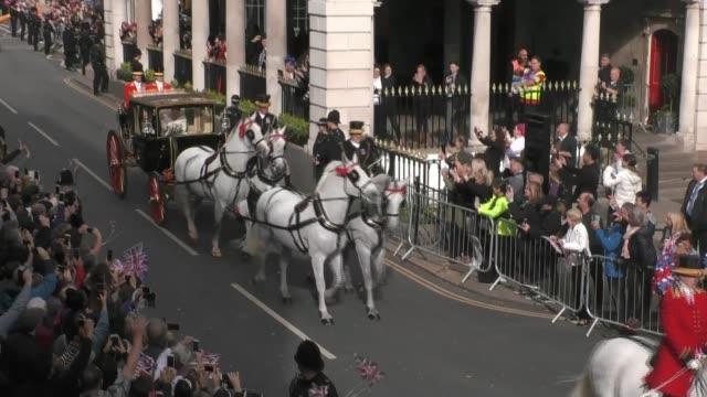 Princess Eugenie and Jack Brooksbank wedding ENGLAND Berkshire Windsor Windsor Castle EXT Princess Eugenie of York now Princess Eugenie Mrs Jack...