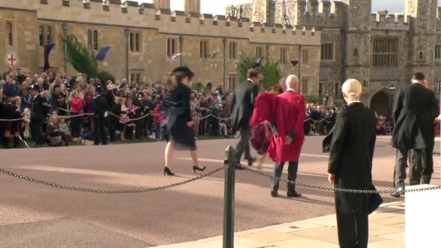 princess eugenie and jack brooksbank wedding royal arrivals including queen england berkshire windsor windsor castle ext prince edward earl of wessex... - james viscount severn stock videos and b-roll footage