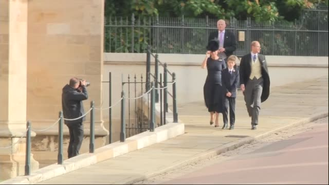 princess eugenie and jack brooksbank wedding royal guests arrive england berkshire windsor windsor castle prince edward earl of wessex and sophie... - berkshire england stock videos and b-roll footage