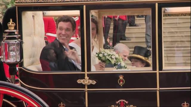 Princess Eugenie and Jack Brooksbank wedding UK Berkshire Windsor Princess Eugenie of York now Princess Eugenie Mrs Jack Brooksbank and her husband...