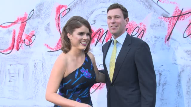 princess eugenie jack brooksbank at the serpentine gallery on june 19 2018 in london england - the serpentine london stock videos & royalty-free footage