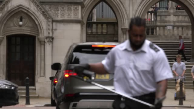 princess haya bint al hussein arrives at the royal courts of justice in london for day two of the latest hearing in the high court battle between the... - court hearing stock videos and b-roll footage