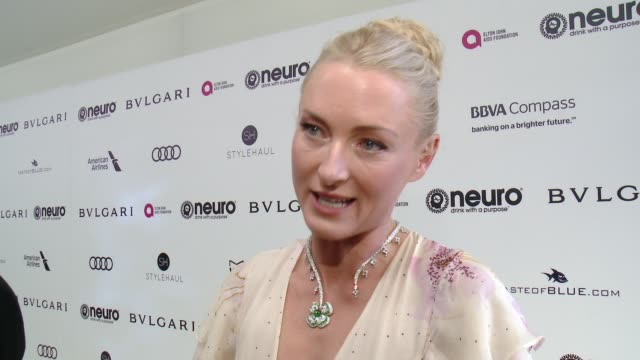 INTERVIEW Princess Lily zu SaynWittgenstein on the event at 25th Annual Elton John AIDS Foundation's Academy Awards Viewing Party in Los Angeles CA