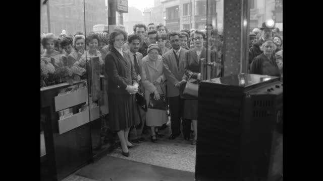 princess margaret and antony armstrong-jones wedding: londoners watching on tv; england: london: ext speakers corner in hyde park?] two men chat:... - fleet street stock videos & royalty-free footage