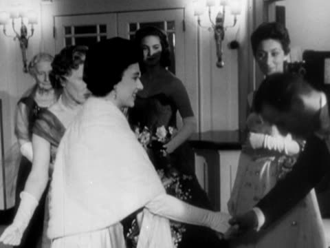 princess margaret arrives at the dorchester hotel for a halloween ball and greets various guests. 03 november 1957. - dorchester hotel stock videos & royalty-free footage