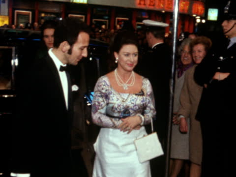 princess margaret arrives at the gala screening of the film the madwoman of chaillot - film screening stock videos & royalty-free footage
