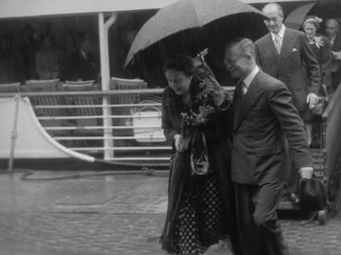 princess margaret arrives in the uk to attend the coronation of queen elizabeth ii - coronation of queen elizabeth ii stock videos and b-roll footage