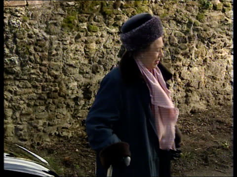 princess margaret health fears; princess margaret health fears; norfolk: sandringham: hillingdon church: princess margaret along into car. - west indies stock videos & royalty-free footage