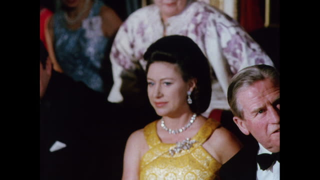 princess margaret in audience at fashion show in london / united kingdom - fashion collection stock videos & royalty-free footage