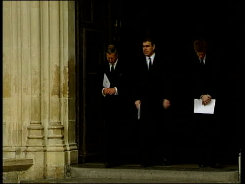 princess margaret memorial service itn london westminster ext queen elizabeth ii and prince philip leaving westminster abbey after memorial service... - memorial event stock videos and b-roll footage