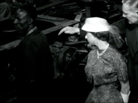 princess margaret royal tour of east africa: visit to locomotives factory; kenya: nairobi: ext hrh princess margaret arriving, along past lines of... - princess stock videos & royalty-free footage