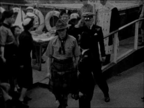 princess margaret visits boy scout exhibition in glasgow scotland glasgow kelvin hall int princess margaret in uniform and others along during visit... - 1957 stock videos & royalty-free footage