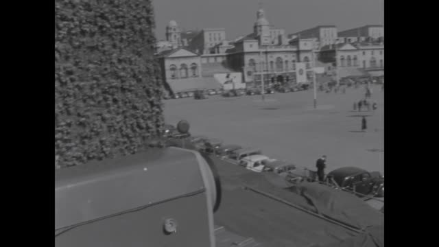 princess margaret's wedding eve cameras of commercial tv in place - 1960 stock videos & royalty-free footage