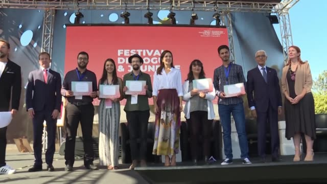 stockvideo's en b-roll-footage met princess mary of denmark attends the youth innovation summit 2019 in the moroccan capital rabat with the presence of the moroccan minister of youth... - koningschap