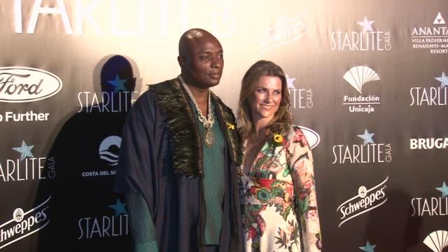 stockvideo's en b-roll-footage met princess märtha louise of norway and shaman durek attend the starlite festival in marbella - gala