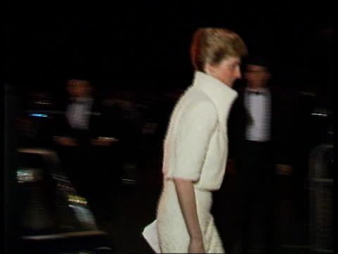 england london royal albert hall diana princess of wales out of car and into albert hall - princess diana stock videos & royalty-free footage