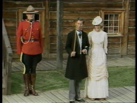 Princess of Wales Attack Princess of Wales Attack 1983 CANADA MS Prince Charles Princess of Wales in victorian costume Diana in long white gown...
