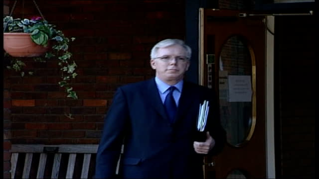 coroner orders investigation england surrey reigate wray park centre ext michael burgess along as arrives for inquest into the death of dodi alfayed... - inquest stock videos & royalty-free footage