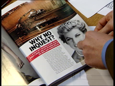 inquest to open itn england london taylor with tatler magazine editor geordie greig tcs article in magazine calling for an inquest into the death of... - magazine stock videos & royalty-free footage