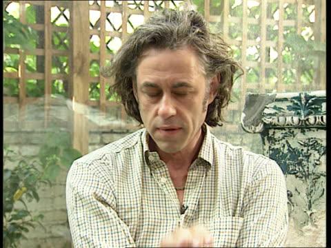 silence itn sir bob geldof intvwd minute to be still the greatest tribute - bob geldof stock videos & royalty-free footage