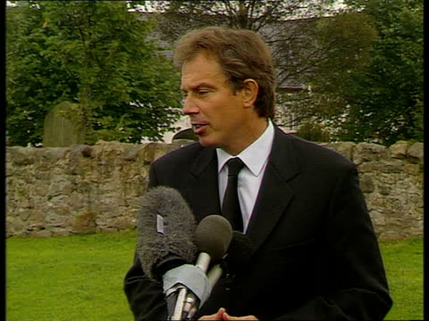 """princess of wales death: tony blair statement; tony blair mp speech sot - """"i feel like everyone else in this country today - utterly devastated. our... - only boys stock videos & royalty-free footage"""
