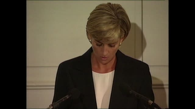 princess of wales landmines speech england london royal geographical society int diana princess of wales seated and listening to speech as man... - human limb stock videos & royalty-free footage
