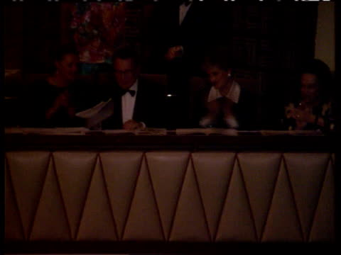 Security ITN ENGLAND London Royal Festival Hall Princess of Wales sitting in balcony seat beside others as applauding at Royal World Piano...
