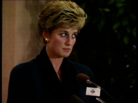 vídeos y material grabado en eventos de stock de england london int diana princess of wales speech sof in the past 12 years i can honesty say that one of my greatest pleasures has been my... - 1993